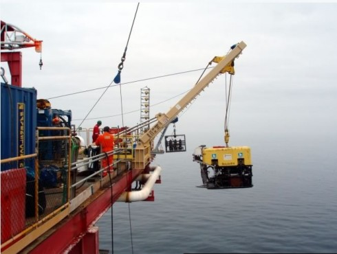 Remotely Operated Vehicles (ROV) are used for underwater inspection & repair work